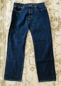 Levis Jeans Two Horse Brand Suspender Back Buckle sz 33x32
