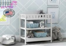 Premium Children Infant Changing Table with Pad Strong & Safe Wood Construction