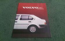 1985 VOLVO 340 HATCHBACK DL GL UK BROCHURE First Edition RIVERSIDE DEALER STAMP