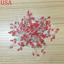 200Pcs Diffused LED 3MM RED COLOR RED LIGHT Super Bright GOOD QUALITY