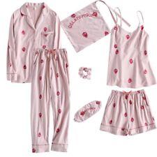 Pre-order strawberry 7pieces pajama set pink cute