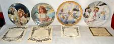 """Lot of 4 Angel Collector 8"""" Plates by Reco & Knowles Artists Kuck & Layton ~153"""