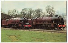 Locos Royal Scot & Duchess Of Sutherland at Bressingham Steam Museum PPC, 1970's