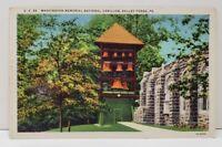 Valley Forge Pa, Washington Memorial National Carillon Postcard C3