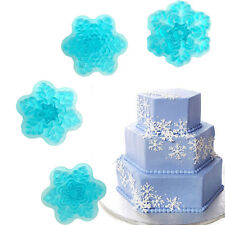 4pcs Cake Mold Snowflake Frozen Snow Flexible Silicone Mold For Candy Chocolate