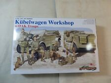 Dragon 1:35 Kubelwagen Workshop w/ DAK Troops Model Kit 6338 OPEN cyberhobby.com