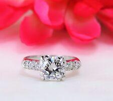 Antique Platinum Round Cut 1.50 ctw Diamond Engagement Ring Size 4 1/2 w/ box