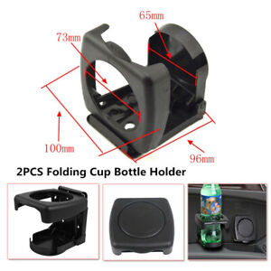 2PCS Car Auto Foldable Beverage Drink Cup Bottle Holder Stand Mount ABS Plastic