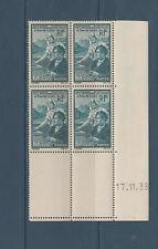 timbre France bloc de 4 coin daté  en faveur des étudiants   num: 417 **