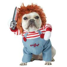 Deadly Doll Halloween Scary Dog Costumes Funny Pet Clothes Cosplay Clothing Set