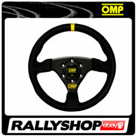 OMP TRECENTO Steering Wheel SMOOTH LEATHER BLACK ANODIZED Race, Rally, Tuning