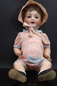 Alte schöne Puppe mit  Porzellankopf  Germany 50 (01-030421)