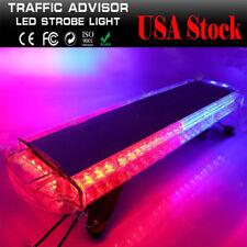 USA RED BLUE 56 LED EMERGENCY WARNING STROBE WORK LIGHT BAR BEACON RESPONSE LAMP