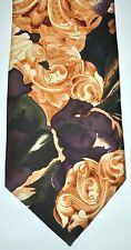 Oscar De La Renta Couture Men's Paisley Multi-Color Neck Tie VINTAGE EUC USA