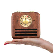 Mini Speaker Walnut Retro Bluetooth Radio Mobile Phone Small Wireless Stereo