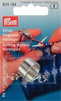 Prym Metal Knitting Thimble Norwegian With 2 Yarn Guides - 624144