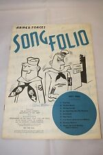 Set of 2 Armed Forces Song Folio Piano Music Sheets May 60 and October 62