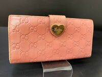 Auth GUCCI GG Pattern Leather Long Wallet Purse A-1205