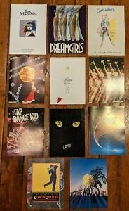 Lot of 11 Broadway Vintage Souvenir Programs - Most Original Casts - 1980's