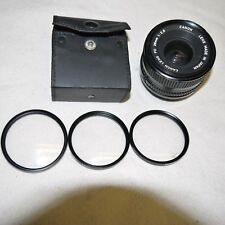 CANON 28mm 1.2:8 lens, with tiffen filters x 3