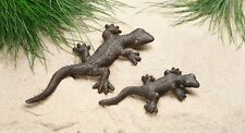 Metall-Gecko, Deko,Tierfigur , Garten Terrasse 2er Set  Hängen/Stehen,229489,