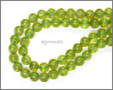 "15.7"" Natural Peridot Round Beads between 5.5mm and 6mm 115ct #85340"