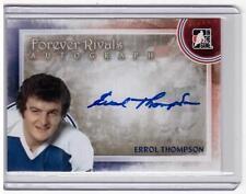 ERROL THOMPSON 11/12 ITG Forever Rivals Auto Autograph A-ET Blue Maple Leafs