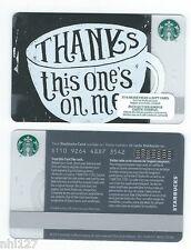 2016 Starbucks THANKS COFFEE RELOADABLE GIFT CARD