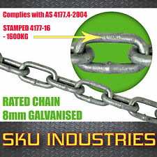 8mm Gal Chain Rated to 1.6T 2ft Length Safety Chain