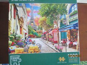 Corner Piece Small Street Paris 1000 piece jigsaw puzzle .