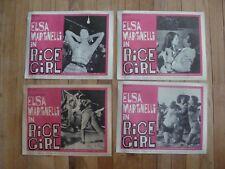 RICE GIRL Lobby card set ELSA MARTINELLI 1963