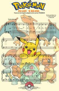 Pokemon Music Gamer Art 11 x 17 High Quality Poster