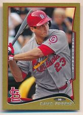 DAVID FREESE 2014 TOPPS MINI #109 GOLD PARALLEL ST LOUIS CARDINALS SP #05/63