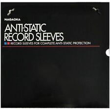 """Nagaoka Discfile Anti Static LP Inner Record Sleeves 102 Vinyl 12"""" - 50 Pack"""