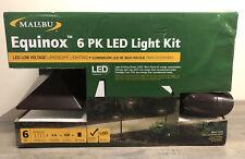 Malibu Equinox 8409-1901-06 Modern Light LED LV Kit, Brown, 6-Piece