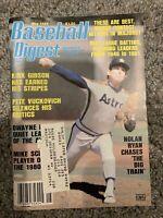 Baseball Digest May 1982 Nolan Ryan Houston Astros Label On Cover