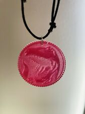 Mighty Morphin Power Rangers Red Ranger Coin Necklace Charm Tyrannosaurus