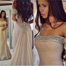 2018 Formal Beach Evening Dresses Sexy Beaded Prom Party Ball Gowns Custom Made