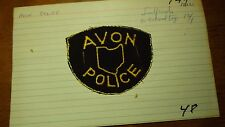 RARE   AVON OHIO  POLICE DEPARTMENT EARLY  OBSOLETE PATCH BX Y #144