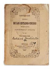 (MEXICO.) Constitucion Federal de los Estados Unidos Mexicanos. Lot 313