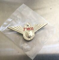 TWA Trans World Airlines Junior Pilot Plastic Wings Pin Souvenir Vintage New