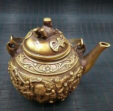 China archaize pure brass Home decoration teapot