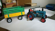 Blechspielzeug, Traktor von Lanz Buldog 4016 mit Anhänger, KOVAP 0360