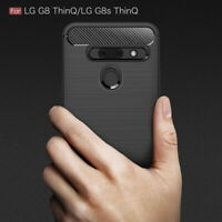 Shockproof Carbon Fiber Soft Silicone Case Cover For LG K40 G8 ThinQ V40 Stylo 5