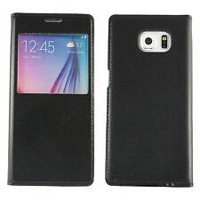 Samsung Galaxy S6 Cover schwarz Hülle neu Schutzhülle View Handy G920 Edge
