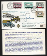 OPC 1982 GB Royal Flying Corps Flown with Autographs Sc#1002-5 Autos Set