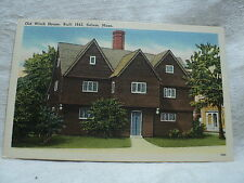 SALEM MA Massachusetts Old Witch House built in 1642 Postcard