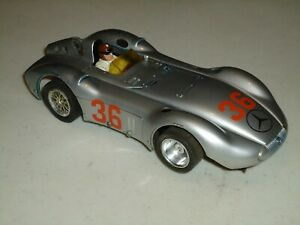 1/24 CARRERA MERCEDES MODIFIED AND  WELL USED RUNS AS-IS