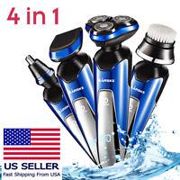 4 IN 1 Electric Hair Cut Clipper Beard Shaver Machine Razor Nose Trimmer Set