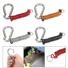 4.9 Foot Safety Rope Spring Towing Coiled Wire Coiled Brake Away Cable